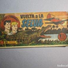 Tebeos: JORGE Y FERNANDO (1949, HISPANO AMERICANA) 1 · 1949 · VUELTA A LA SELVA. Lote 145854966