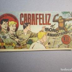 Tebeos: JORGE Y FERNANDO (1949, HISPANO AMERICANA) 3 · 1949 · CARAFELIZ, EL MONO AMAESTRADO. Lote 145855082