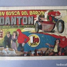 Tebeos: HOMBRE ENMASCARADO, EL (1941, HISPANO AMERICANA) 34 · 1941 · EN BUSCA DEL BARÓN DANTON. Lote 146406486