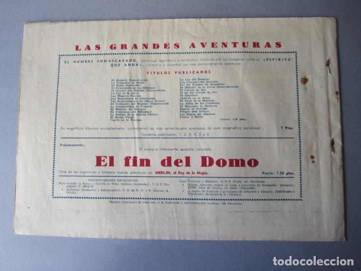 Tebeos: HOMBRE ENMASCARADO, EL (1941, HISPANO AMERICANA) 34 · 1941 · EN BUSCA DEL BARÓN DANTON - Foto 2 - 146406486