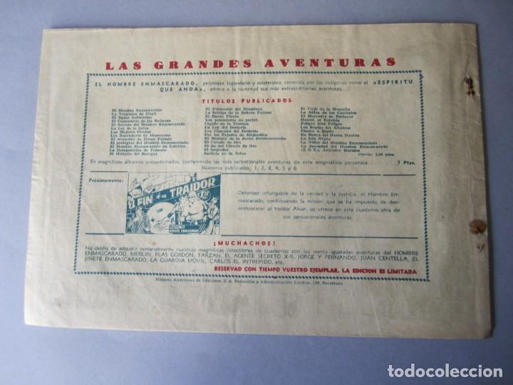 Tebeos: HOMBRE ENMASCARADO, EL (1941, HISPANO AMERICANA) 39 · 1941 · CONTRABANDO - Foto 2 - 146407110