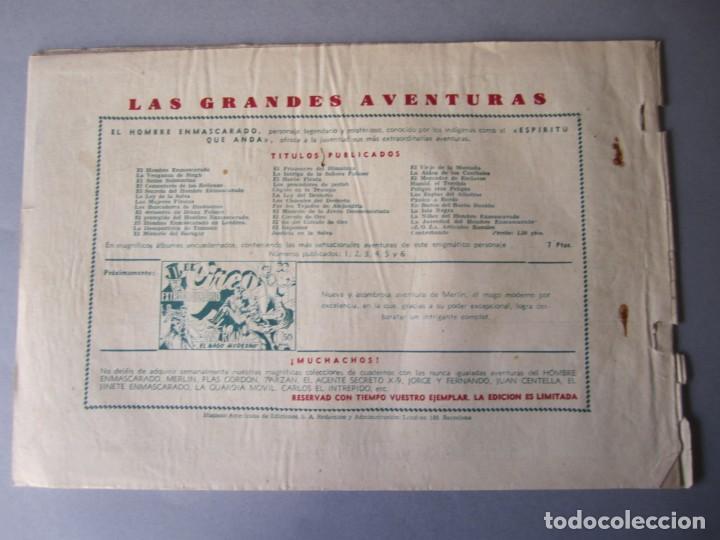 Tebeos: HOMBRE ENMASCARADO, EL (1941, HISPANO AMERICANA) 40 · 1941 · EL FIN DE UN TRAIDOR - Foto 2 - 146407642