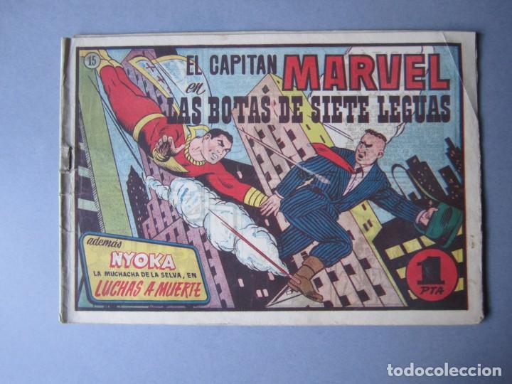 CAPITAN MARVEL, EL (1947, HISPANO AMERICANA) 15 · 1947 · LAS BOTAS DE SIETE LEGUAS (Tebeos y Comics - Hispano Americana - Capitán Marvel)
