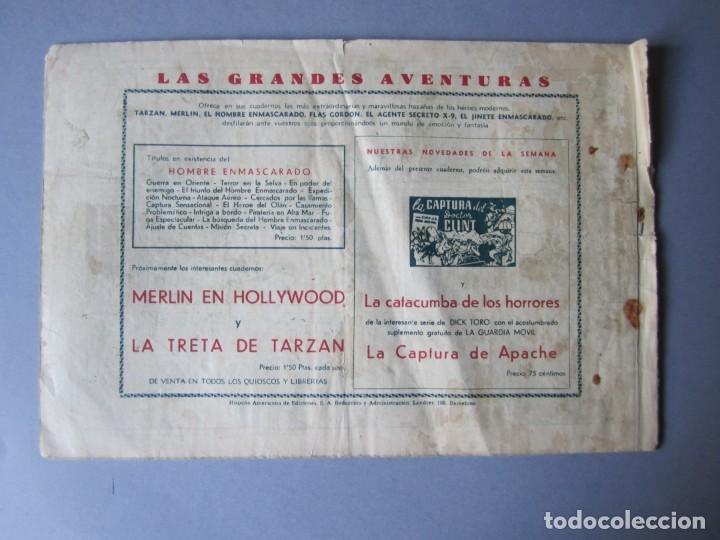 Tebeos: HOMBRE ENMASCARADO, EL (1941, HISPANO AMERICANA) 66 · 1941 · EL HOMBRE ENMASCARADO Y EL CANTANTE - Foto 2 - 146678342