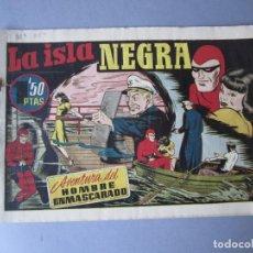 Tebeos: HOMBRE ENMASCARADO, EL (1941, HISPANO AMERICANA) 35 · 1941 · LA ISLA NEGRA. Lote 146680494