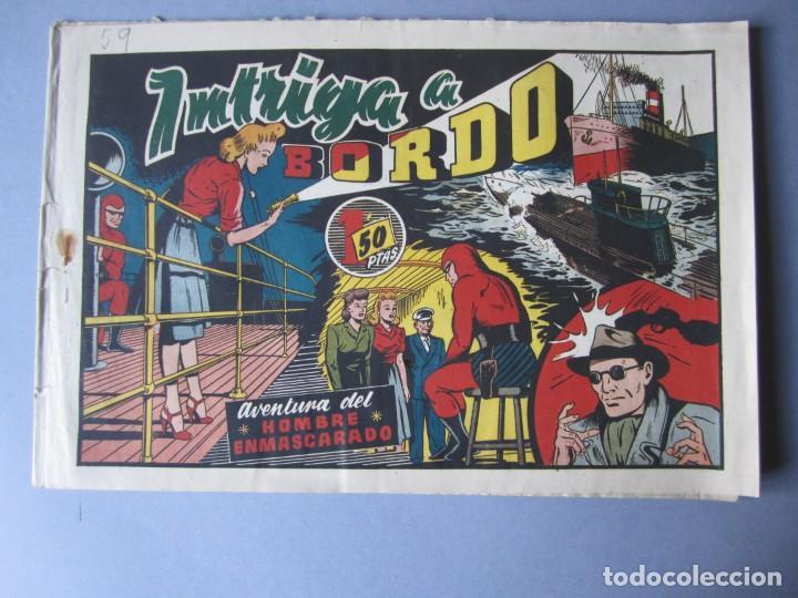 HOMBRE ENMASCARADO, EL (1941, HISPANO AMERICANA) 59 · 1941 · INTRIGA A BORDO (Tebeos y Comics - Hispano Americana - Hombre Enmascarado)