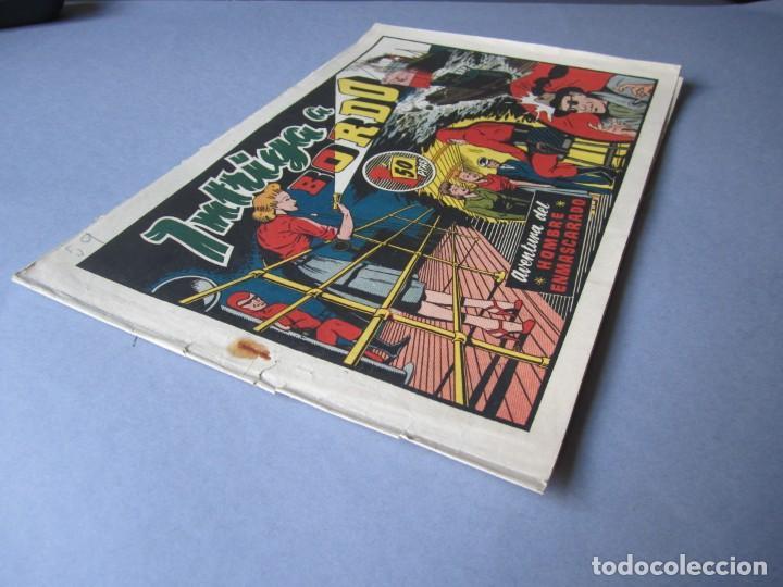 Tebeos: HOMBRE ENMASCARADO, EL (1941, HISPANO AMERICANA) 59 · 1941 · INTRIGA A BORDO - Foto 3 - 146714742
