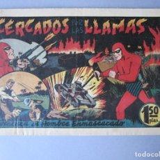 Tebeos: HOMBRE ENMASCARADO, EL (1941, HISPANO AMERICANA) 55 · 1941 · CERCADO POR LAS LLAMAS. Lote 146715258