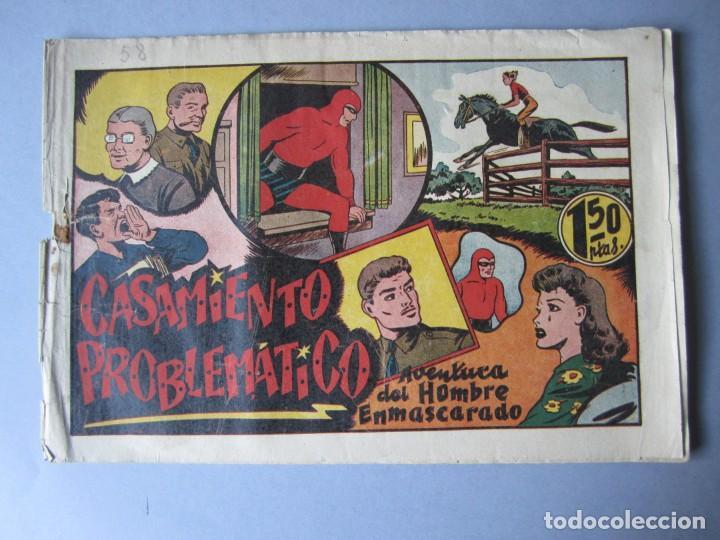 HOMBRE ENMASCARADO, EL (1941, HISPANO AMERICANA) 58 · 1941 · CASAMIENTO PROBLEMÁTICO (Tebeos y Comics - Hispano Americana - Hombre Enmascarado)