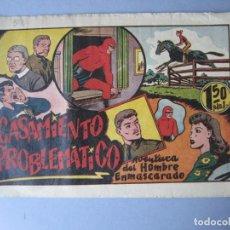 Tebeos: HOMBRE ENMASCARADO, EL (1941, HISPANO AMERICANA) 58 · 1941 · CASAMIENTO PROBLEMÁTICO. Lote 146715802