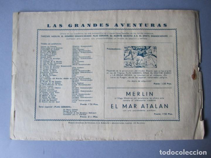 Tebeos: HOMBRE ENMASCARADO, EL (1941, HISPANO AMERICANA) 58 · 1941 · CASAMIENTO PROBLEMÁTICO - Foto 2 - 146715802