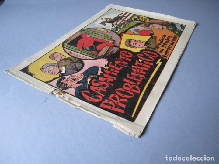Tebeos: HOMBRE ENMASCARADO, EL (1941, HISPANO AMERICANA) 58 · 1941 · CASAMIENTO PROBLEMÁTICO - Foto 3 - 146715802