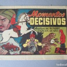 Tebeos: HOMBRE ENMASCARADO, EL (1941, HISPANO AMERICANA) 76 · 1941 · MOMENTOS DECISIVOS. Lote 146716610