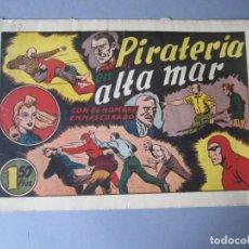 Tebeos: HOMBRE ENMASCARADO, EL (1941, HISPANO AMERICANA) 60 · 1941 · PIRATERÍA EN ALTA MAR. Lote 146716838