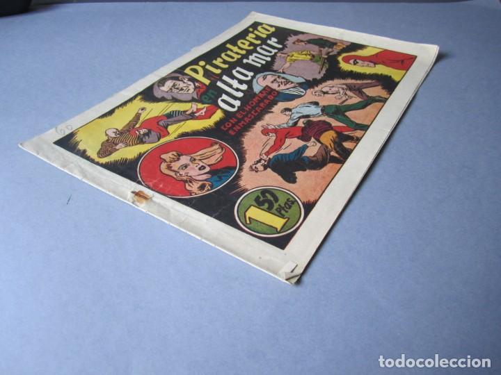 Tebeos: HOMBRE ENMASCARADO, EL (1941, HISPANO AMERICANA) 60 · 1941 · PIRATERÍA EN ALTA MAR - Foto 3 - 146716838