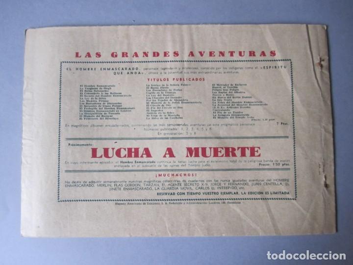 Tebeos: HOMBRE ENMASCARADO, EL (1941, HISPANO AMERICANA) 43 · 1941 · LA FORTALEZA SUBTERRANEA - Foto 2 - 146717282