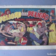 Tebeos: HOMBRE ENMASCARADO, EL (1941, HISPANO AMERICANA) 31 · 1941 · PELIGRO TRAS PELIGRO. Lote 146718302