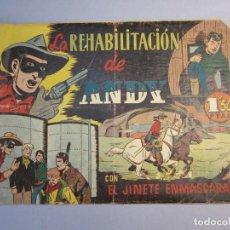 Tebeos: JINETE ENMASCARADO, EL (1943, HISPANO AMERICANA) 25 · 1943 · LA REHABILITACIÓN DE ANDY. Lote 146784470