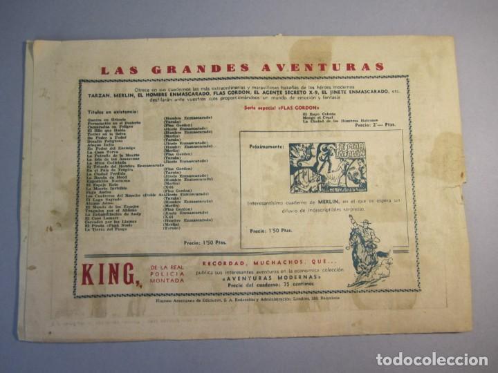 Tebeos: HOMBRE ENMASCARADO, EL (1941, HISPANO AMERICANA) 56 · 1941 · CAPTURA SENSACIONAL - Foto 2 - 146792118