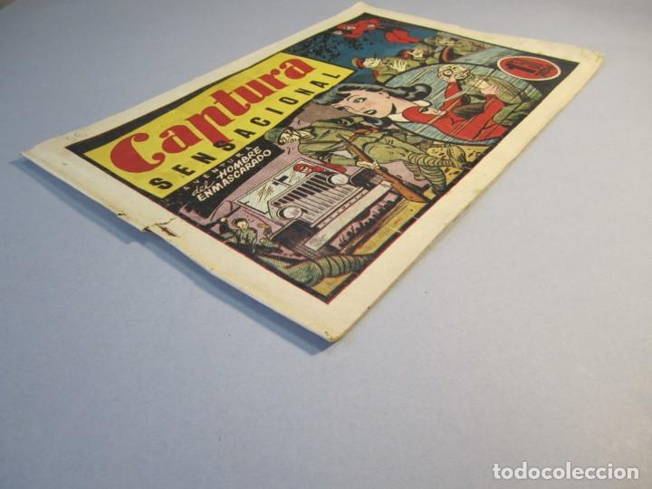 Tebeos: HOMBRE ENMASCARADO, EL (1941, HISPANO AMERICANA) 56 · 1941 · CAPTURA SENSACIONAL - Foto 3 - 146792118