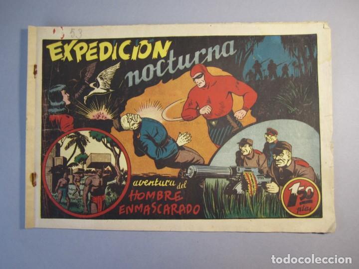 HOMBRE ENMASCARADO, EL (1941, HISPANO AMERICANA) 53 · 1941 · EXPEDICIÓN NOCTURNA (Tebeos y Comics - Hispano Americana - Hombre Enmascarado)