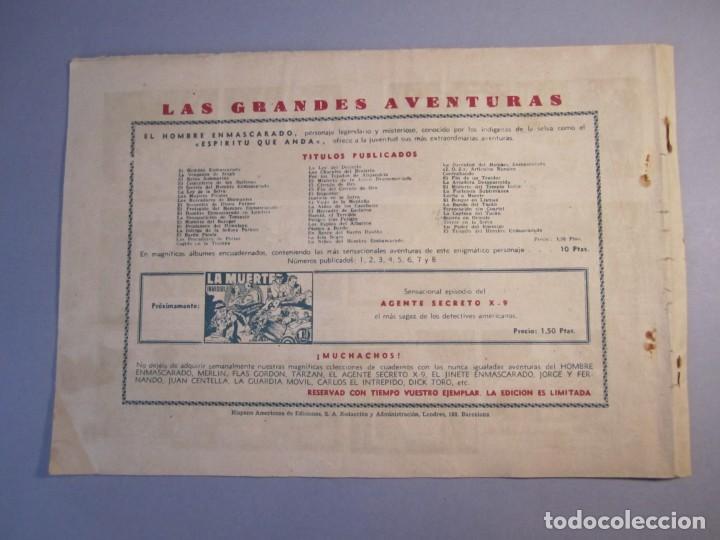 Tebeos: HOMBRE ENMASCARADO, EL (1941, HISPANO AMERICANA) 53 · 1941 · EXPEDICIÓN NOCTURNA - Foto 2 - 146792534