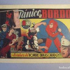 Tebeos: HOMBRE ENMASCARADO, EL (1941, HISPANO AMERICANA) 33 · 1941 · PÁNICO A BORDO. Lote 146796490