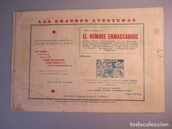 Tebeos: HOMBRE ENMASCARADO, EL (1941, HISPANO AMERICANA) 63 · 1941 · AJUSTE DE CUENTAS - Foto 2 - 146797322