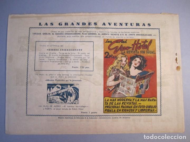 Tebeos: HOMBRE ENMASCARADO, EL (1941, HISPANO AMERICANA) 61 · 1941 · FUGA ESPECTACULAR - Foto 2 - 146797642
