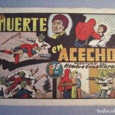Tebeos: HOMBRE ENMASCARADO, EL (1941, HISPANO AMERICANA) 75 · 1941 · LA MUERTE EN ACECHO. Lote 146797978