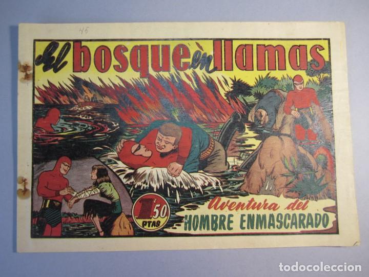 HOMBRE ENMASCARADO, EL (1941, HISPANO AMERICANA) 45 · 1941 · EL BOSQUE EN LLAMAS (Tebeos y Comics - Hispano Americana - Hombre Enmascarado)