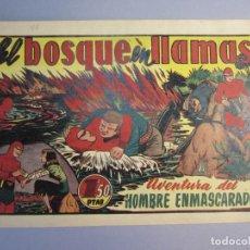 Tebeos: HOMBRE ENMASCARADO, EL (1941, HISPANO AMERICANA) 45 · 1941 · EL BOSQUE EN LLAMAS. Lote 146798850