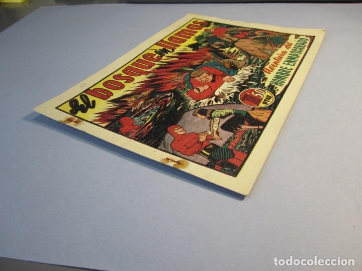 Tebeos: HOMBRE ENMASCARADO, EL (1941, HISPANO AMERICANA) 45 · 1941 · EL BOSQUE EN LLAMAS - Foto 3 - 146798850