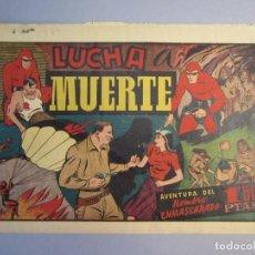 Tebeos: HOMBRE ENMASCARADO, EL (1941, HISPANO AMERICANA) 44 · 1941 · LUCHA A MUERTE. Lote 146799046