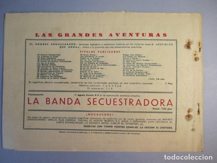 Tebeos: HOMBRE ENMASCARADO, EL (1941, HISPANO AMERICANA) 44 · 1941 · LUCHA A MUERTE - Foto 2 - 146799046