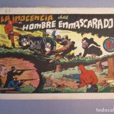 Tebeos: HOMBRE ENMASCARADO, EL (1941, HISPANO AMERICANA) 68 · 1941 · LA INOCENCIA DEL HOMBRE ENMASCARADO. Lote 146799902