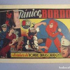 Tebeos: HOMBRE ENMASCARADO, EL (1941, HISPANO AMERICANA) 33 · 1941 ·PANICO A BORDO. Lote 146912346