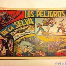 Tebeos: CAZANDO FIERAS VIVAS -Nº. 4 (LOS PELIGROS DE LA SELVA) - MUY BIEN CONSERVADO- SIN GRAPA. Lote 147051050