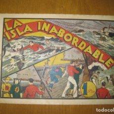 Tebeos: LA ISLA INABORDABLE. HISPANOAMERICANA DE EDICIONES. ORIGINAL.. Lote 147298846