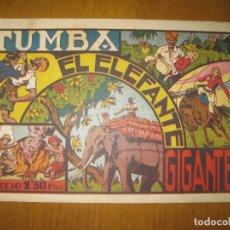 Tebeos: TUMBA EL ELEFANTE GIGANTE. HISPANOAMERICANA DE EDICIONES. ORIGINAL.. Lote 147299022