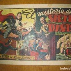 Tebeos: EL MISTERIO DE SIETE DUNAS.. CON MERLIN EL MAGO MODERNO. HISPANO AMERICANA DE EDICIONES. ORIGINAL.. Lote 147307082