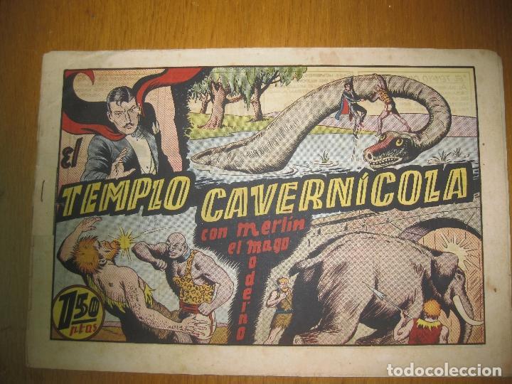 EL TEMPLO CAVERNICOLA. CON MERLIN EL MAGO MODERNO. HISPANO AMERICANA DE EDICIONES. ORIGINAL. (Tebeos y Comics - Hispano Americana - Merlín)