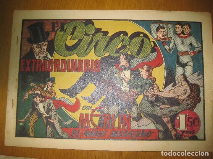 EL CIRCO EXTRAORDINARIO CON MERLIN EL MAGO MODERNO. HISPANO AMERICANA DE EDICIONES. ORIGINAL. (Tebeos y Comics - Hispano Americana - Merlín)