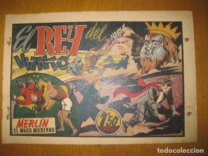 EL REY DEL VIENTO CON MERLIN EL MAGO MODERNO. HISPANO AMERICANA DE EDICIONES. ORIGINAL. (Tebeos y Comics - Hispano Americana - Merlín)