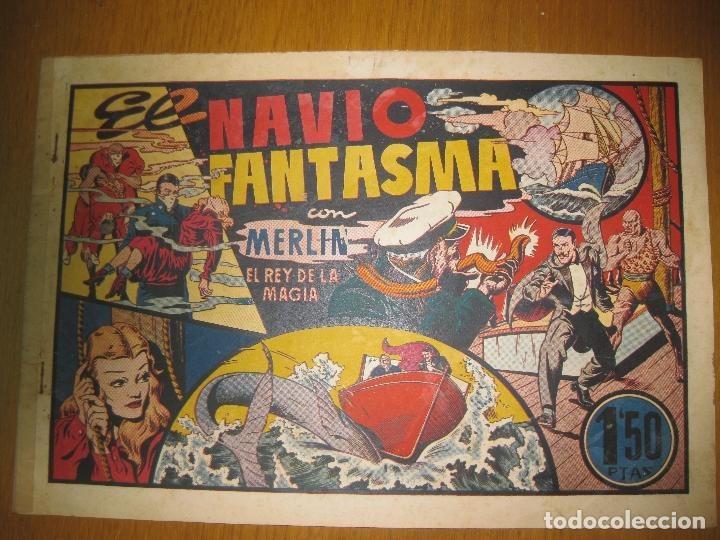 EL NAVIO FANTASMA CON MERLIN EL REY DE LA MAGIA. HISPANO AMERICANA DE EDICIONES. ORIGINAL. (Tebeos y Comics - Hispano Americana - Merlín)