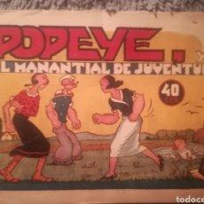 Tebeos: POPEYE, EL MANANTIAL DE JUVENTUD. Lote 147402814