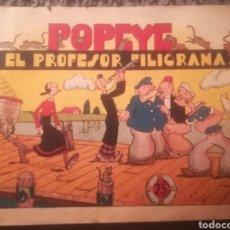 Tebeos: POPEYE Y EL PROFESOR FILIGRANA. Lote 147404022