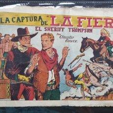 Tebeos: TEBEO / CÓMIC ORIGINAL 1943 EL SHERIFF THOMPSON LA CAPTURA DE LA FIERA HISPANO-AMERICANA CROMO FÚTBO. Lote 147623442