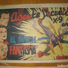 Tebeos: EL AGENTE SECRETO X-9 EN EL AVION FANTASMA. HISPANO AMERICANA DE EDICIONES. . Lote 148024438