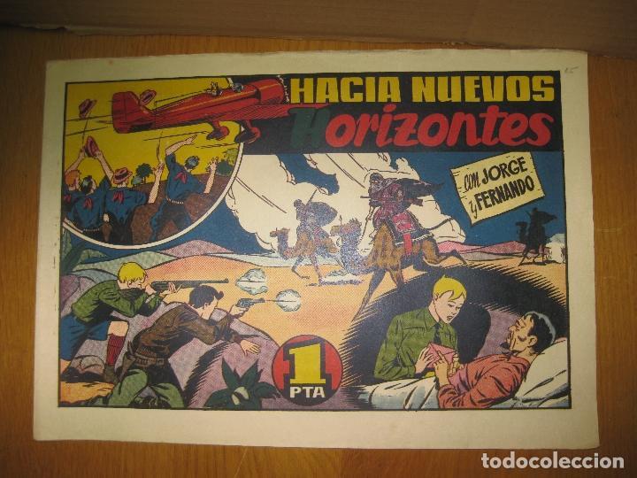 JORGE Y FERNANDO. HACIA NUEVOS HORIZONTES. HISPANO AMERICANA DE EDICIONES. ORIGINAL. (Tebeos y Comics - Hispano Americana - Jorge y Fernando)